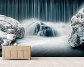 Icy Falls wallpaper mural living room preview