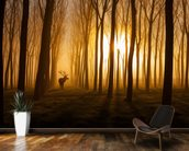 Forest Stag mural wallpaper kitchen preview