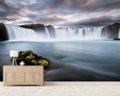 Bruarfoss mural wallpaper living room preview