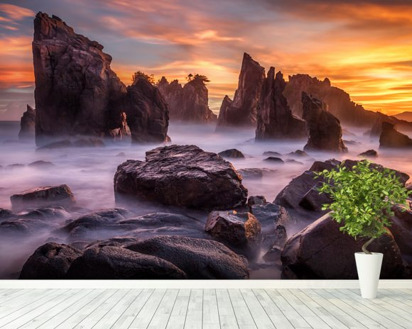 Heaven of Rocks wall mural room setting
