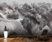 Wild Horses mural wallpaper kitchen preview