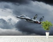 Mig 29 wall mural in-room view
