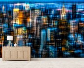 Downtown wallpaper mural living room preview