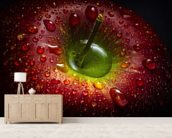 Red Apple wall mural living room preview