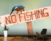 No Fishing mural wallpaper kitchen preview