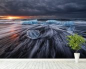 Wild Ice wall mural in-room view