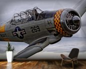 Grumman Hellcat mural wallpaper kitchen preview