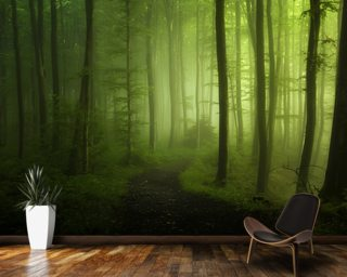 Forest Greens wallpaper mural