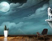 Night Wolf wall mural kitchen preview