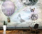 Balloon and butterflies wallpaper mural kitchen preview