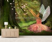 Feather Fairy wall mural living room preview