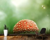 Magic Toadstool wallpaper mural kitchen preview