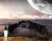 Planet landscape view from a beach wall mural kitchen preview