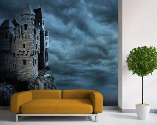 Castles wallpaper wall murals wallsauce usa for Castle wall mural wallpaper