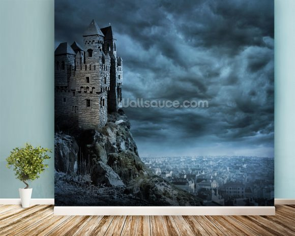 Castle wallpaper wall mural wallsauce for Castle mural wallpaper