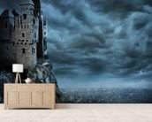 Castle wall mural living room preview