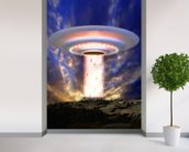 Ufo mass abduction wallpaper mural in-room view