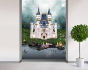 Enchanted castle wall mural in-room view