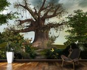 Fabulous garden wallpaper mural kitchen preview