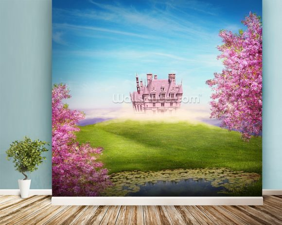 Fairy tale landscape wall mural room setting