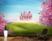 Fairy tale landscape wall mural kitchen preview