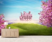 Fairy tale landscape wall mural living room preview