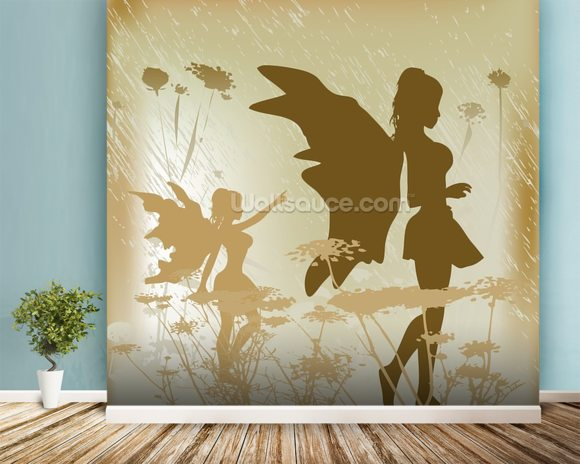 Fairy background wallpaper wall mural wallsauce australia for Fairy wall mural
