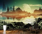 Alien City Ruins beside the Lake wall mural kitchen preview