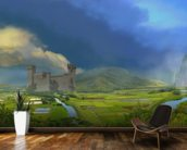 Green Mansions mural wallpaper kitchen preview
