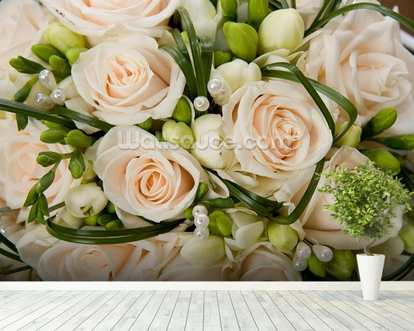 Wedding Bouquet wall mural room setting