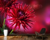 Dahlia Autumn wall mural kitchen preview