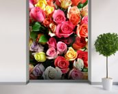 Roses wall mural in-room view