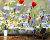 Wild Flower Meadow mural wallpaper kitchen preview