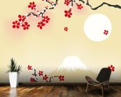 Japanese Cherry Blossom wallpaper mural kitchen preview