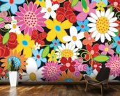 Spring Flower Power wallpaper mural kitchen preview