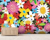 Spring Flower Power wallpaper mural living room preview