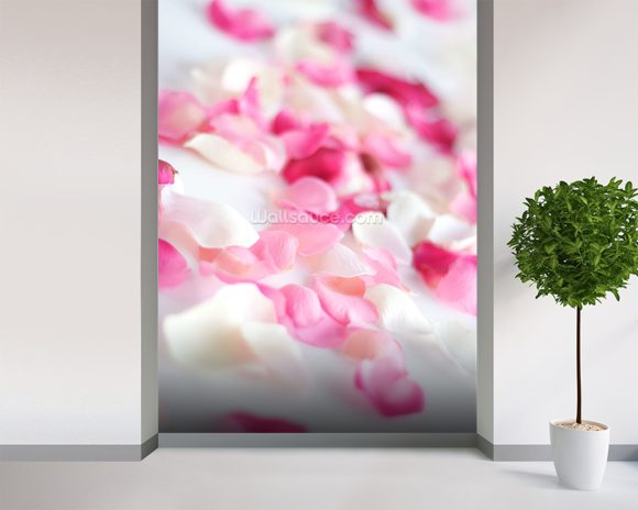 Rose Petals wall mural room setting