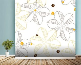 Yellow Wall Murals Wallpaper