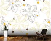 Flowers Illustration wallpaper mural kitchen preview