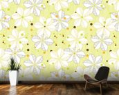 Abstract Floral - Lime mural wallpaper kitchen preview
