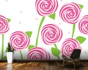 Pattern of Roses wall mural kitchen preview