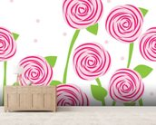 Pattern of Roses wall mural living room preview