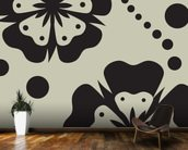 Black Poppies wallpaper mural kitchen preview