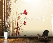 Autumnal Flowers wall mural kitchen preview