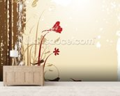 Autumnal Flowers wall mural living room preview