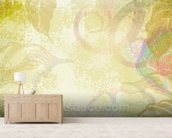 Flower Design mural wallpaper living room preview