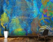 Floral Design Blue wall mural kitchen preview