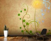 Dandelion Illustration wallpaper mural kitchen preview