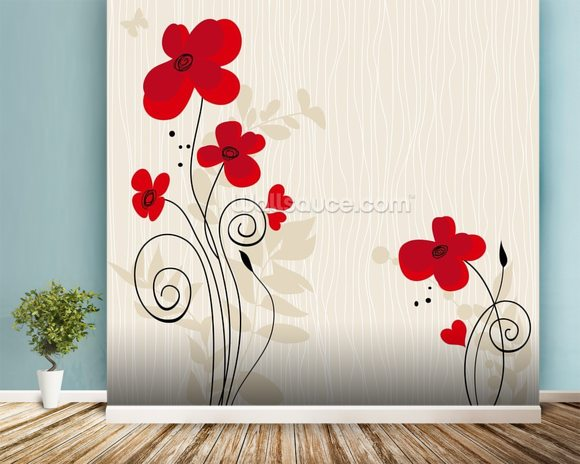 Romantic Floral Illustration Wallpaper Wall Mural  Wallsauce. Portal Signs Of Stroke. Plant Lettering. Usc Banners. Jungle Tree Murals. Folder Stickers. Closure Signs. Bearded Dragon Signs Of Stroke. French Signs Of Stroke