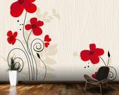 Romantic Floral Illustration wall mural kitchen preview